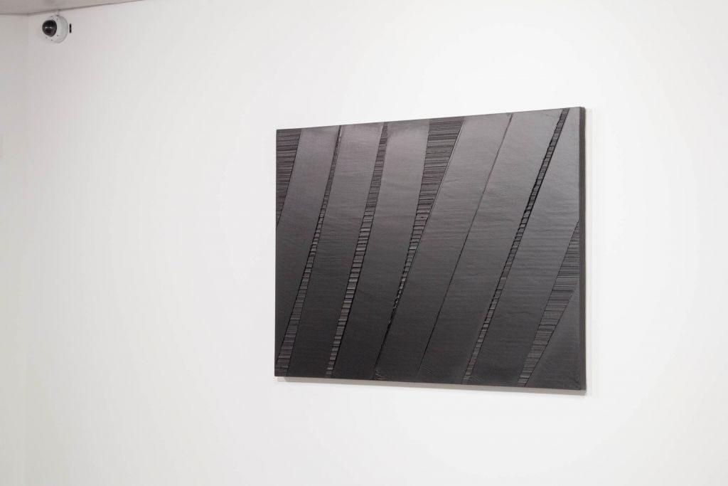 Peinture 117 x 165 cm, 6 janvier 1990 –Pierre et Colette Soulages. Photo : Vincent Cunillère