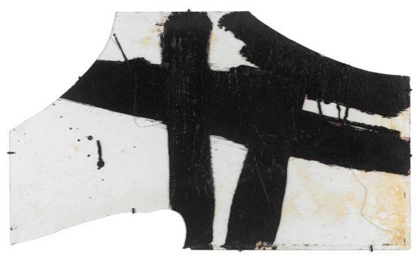 Pierre Soulages, Goudron sur verre 1948-1, 1948, goudron sur verre, 45,5 x 76,5 cm, Paris, Centre Pompidou - Musée national d'art moderne